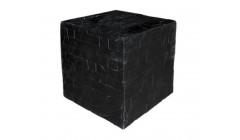 Куб черный декоративный большой