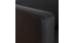 Компактный черный диван