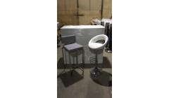Мягкий барный стул серого цвета